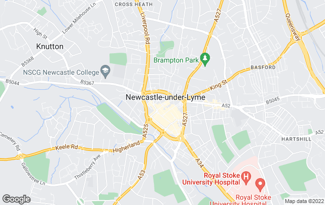 Map for Newcastle Under Lyme Borough Council, Newcastle-under-Lyme