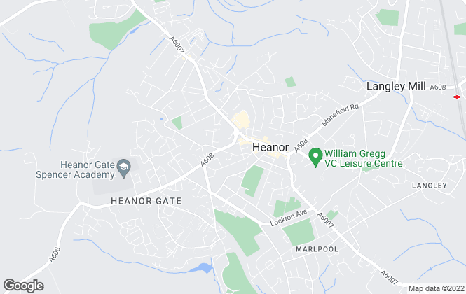 Map for Castle Homes, Heanor
