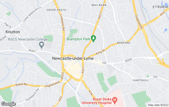 Map for Mark Buxton Estate Agents, Newcastle Under Lyme