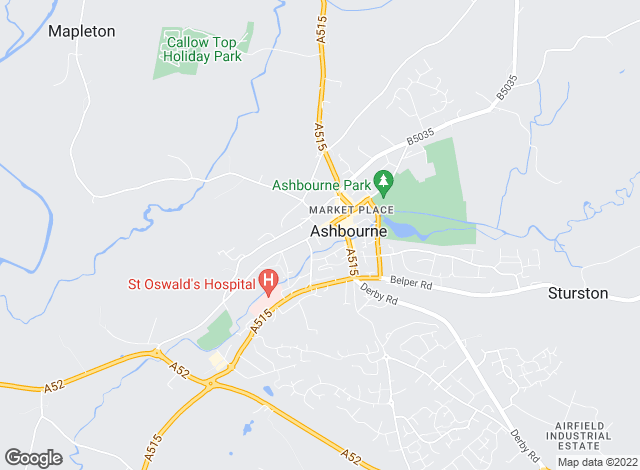 Map for Bagshaws Residential, Ashbourne