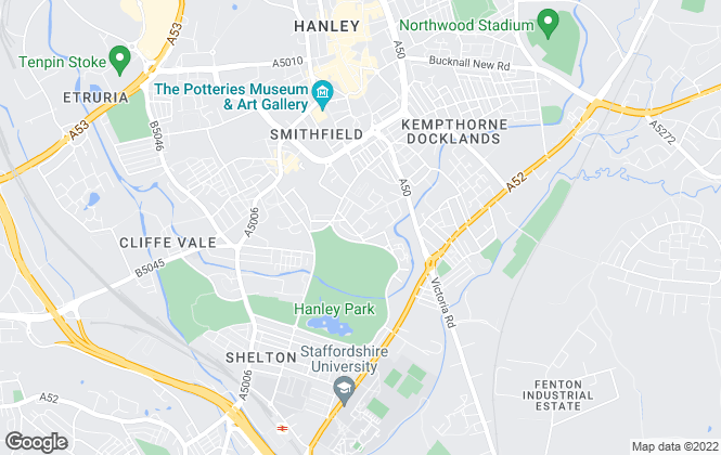 Map for YMCA North Staffordshire,