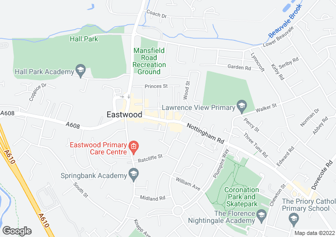 Map for Nottingham Road,