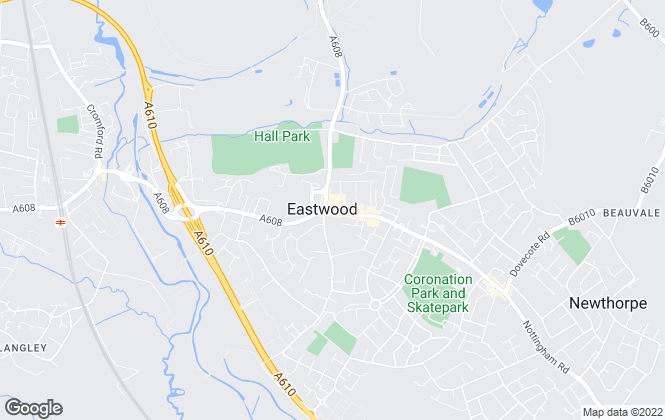 Map for David Hammond Chartered Surveyors, Eastwood