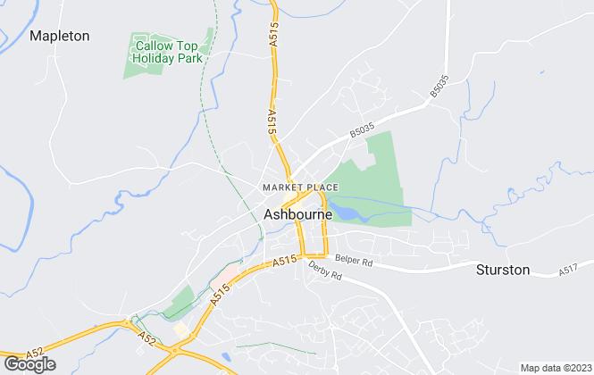 Map for Harrison Murray, Ashbourne