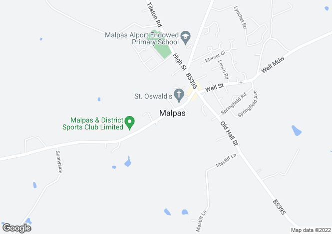 Map for Church Street, Malpas, Cheshire