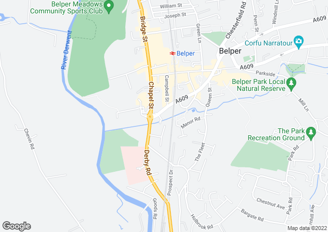 Map for Brook Park, Derby Road,  Belper
