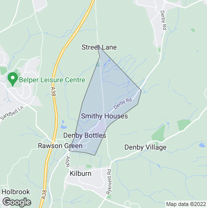 Map of property in Denby