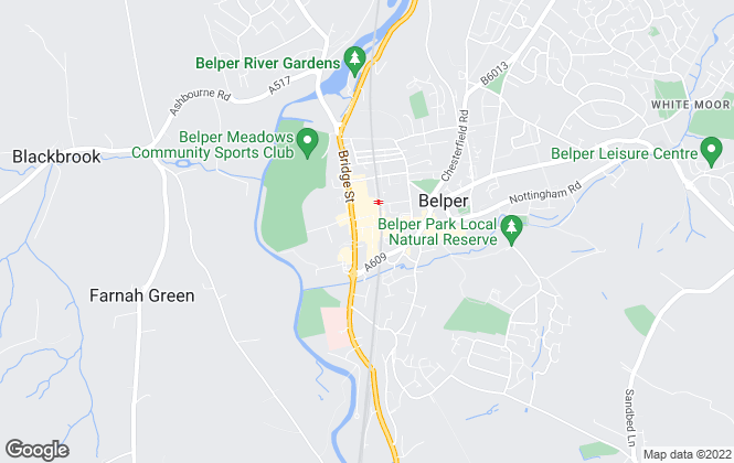 Map for Hall and Benson , Belper