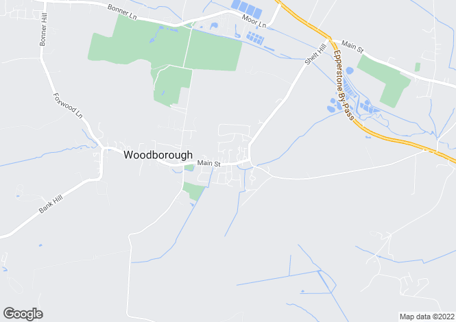 Map for Main Street, Woodborough, Notingham, NG14