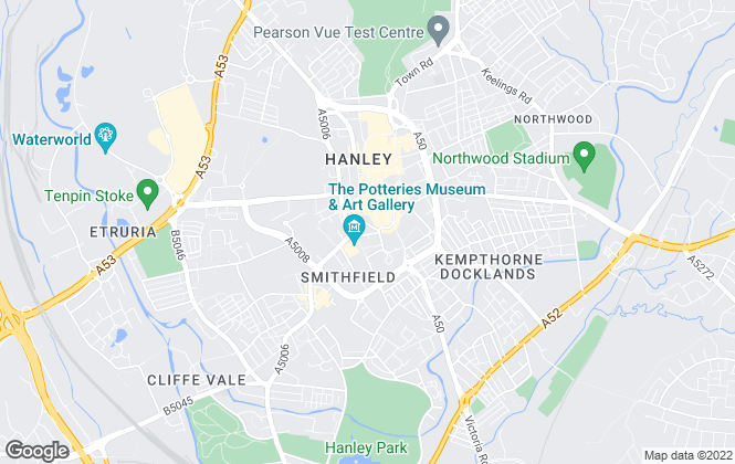 Map for Martin & Co, Stoke On Trent - Lettings & Sales