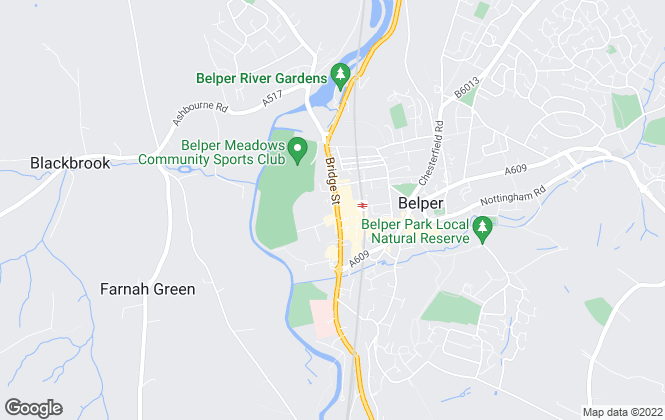 Map for Derbyshire Properties, Belper