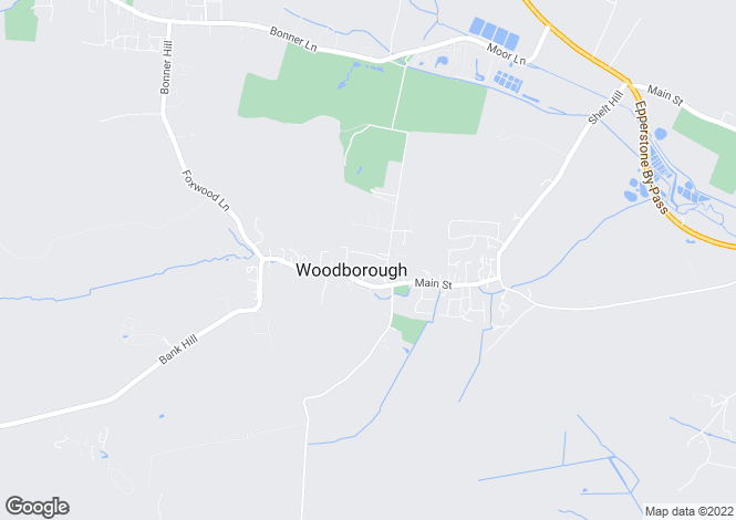 Map for Broad Close, Woodborough, Nottingham