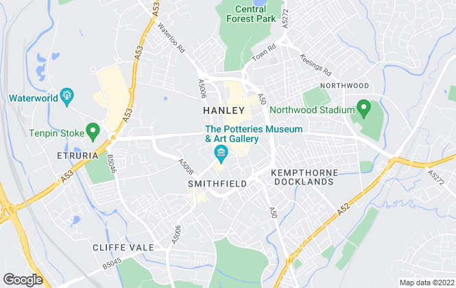 Map for Reeds Rains , Hanley