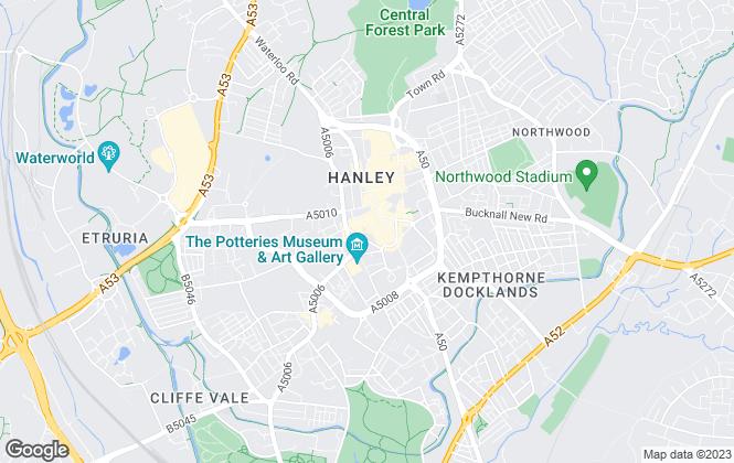 Map for Reeds Rains, Hanley