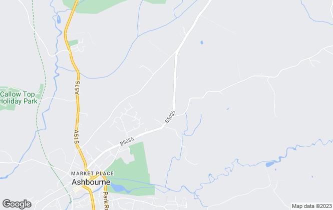 Map for Scargill Mann & Co, Ashbourne