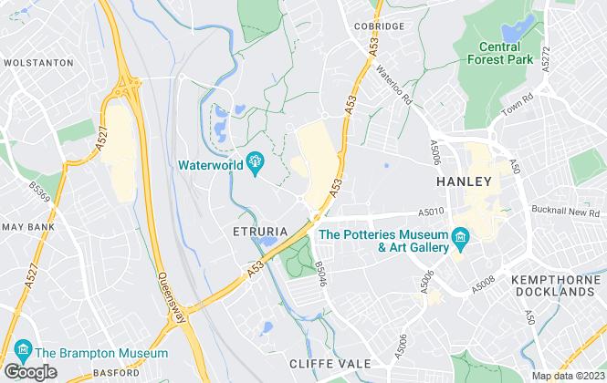 Map for Keys Estate Agents, Stoke-On-Trent