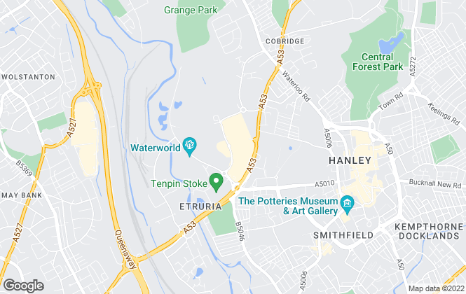 Map for OneAgency, Stoke-On-Trent