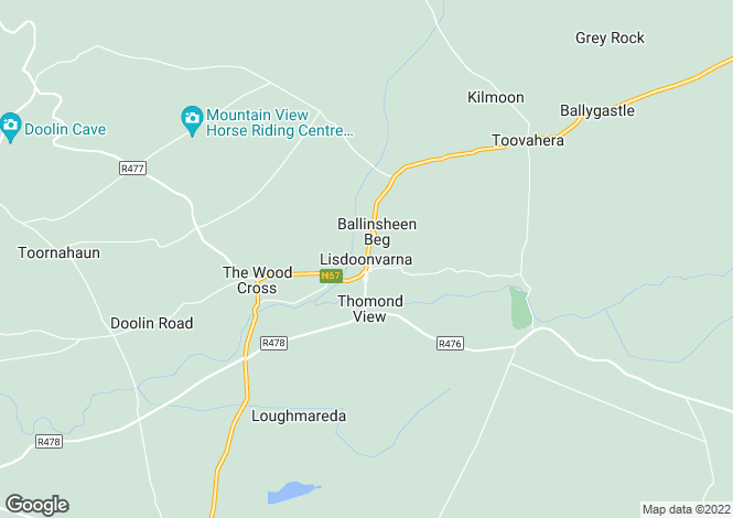 Map for Caherbarnagh, Lisdoonvarna, Clare