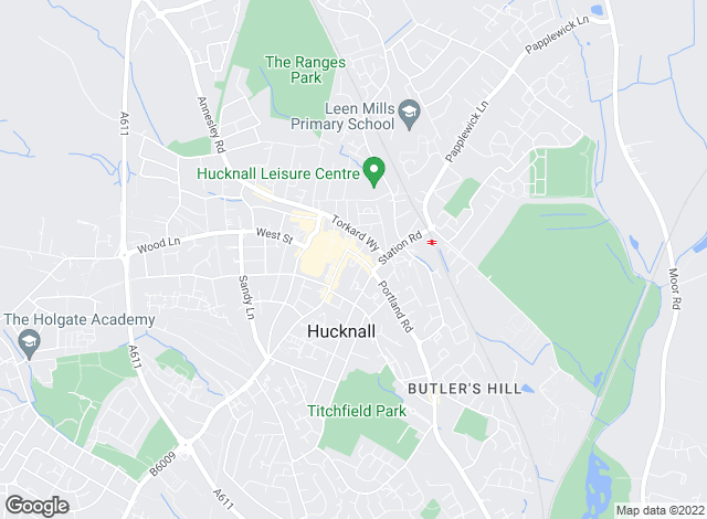 Map for YOUR MOVE, Hucknall