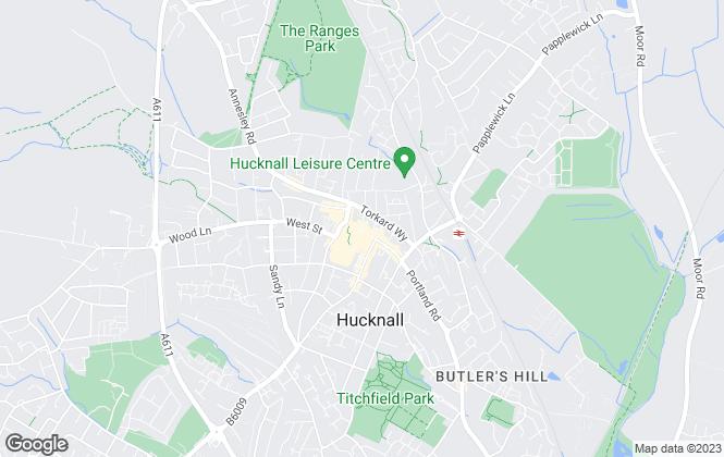 Map for Burchell Edwards, Hucknall  Lettings