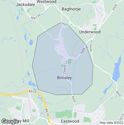 Map of property in Brinsley