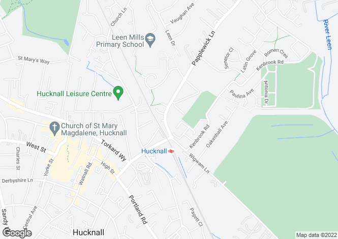 Map for Kirkwood at Papplewick Green, Papplewick Lane,