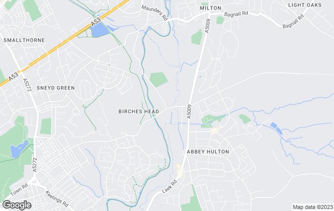 Map for Whitegates, Stoke-On-Trent