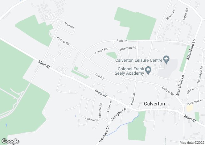 Map for Collyer Road, Calverton, Nottingham, Nottinghamshire
