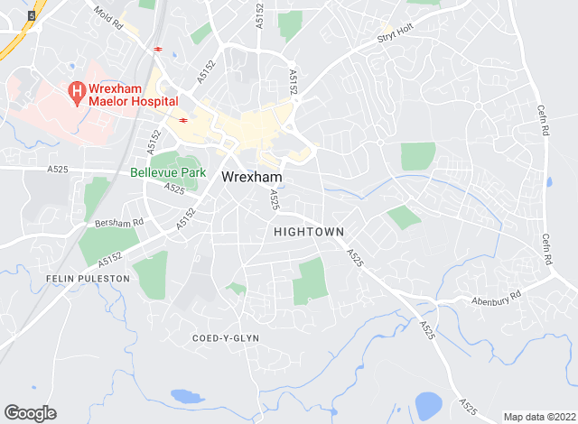 Map for Hybrid TPA, Wrexham