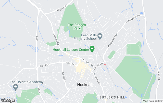 Map for Nottingham Property Services, Hucknall