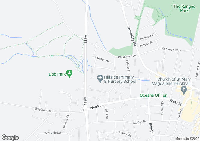 Map for Park Lodge, Greenwood Vale, Hucknall