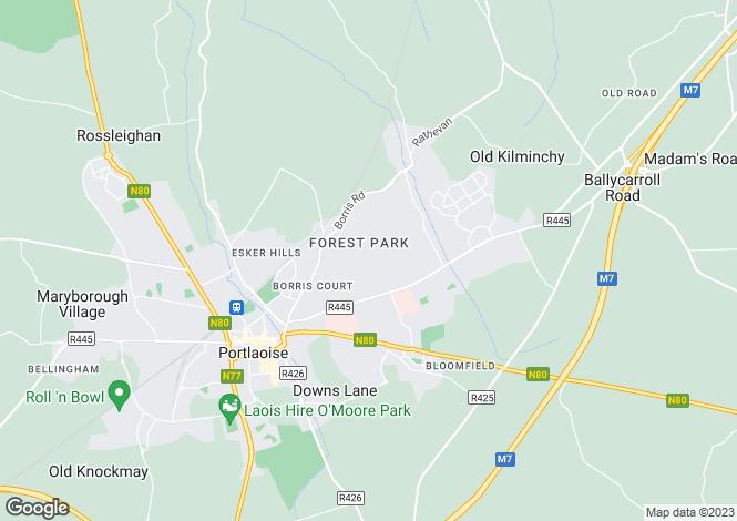 Map for 8 Broomville Close, Portlaoise, Laois