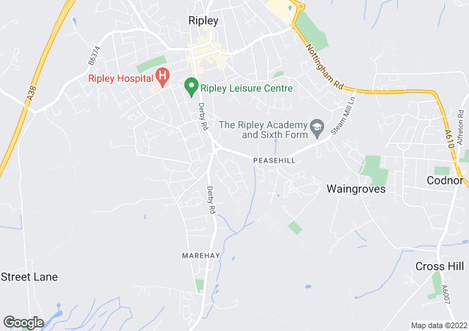 Map for Priory Way, Ripley DE5