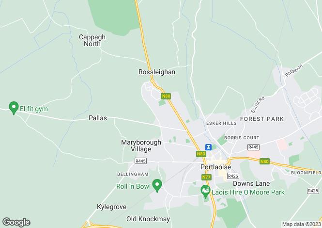 Map for 58 Woodgrove, Ballyfin R., Portlaoise, Laois