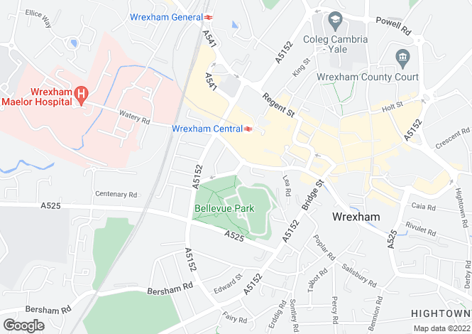 Map for St Giles Court, Wrexham