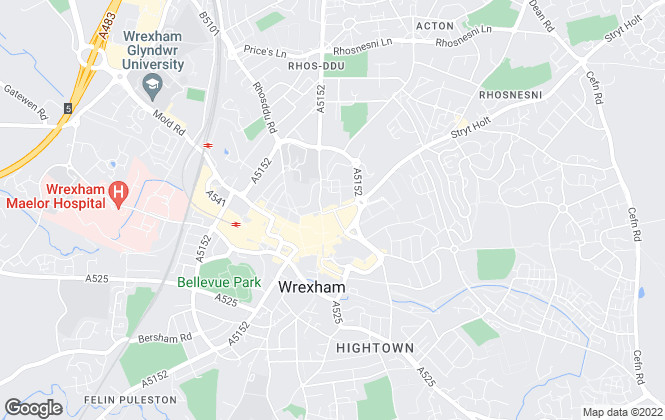 Map for Wingetts, Wrexham
