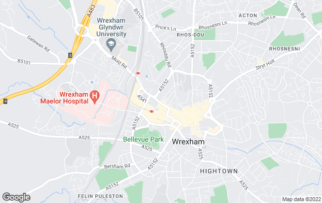 Map for Town & Country Estate Agents, Wrexham - Sales