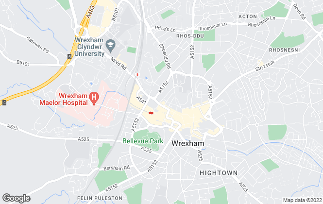 Map for Town & Country Estate Agents, Wrexham