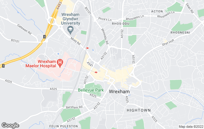 Map for Grow Sales & Lettings, Wrexham