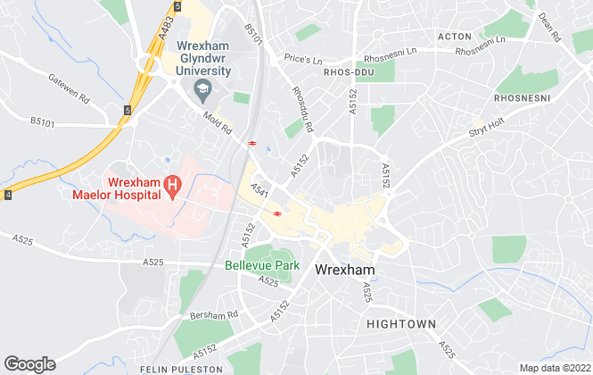 Map for Belvoir, Wrexham