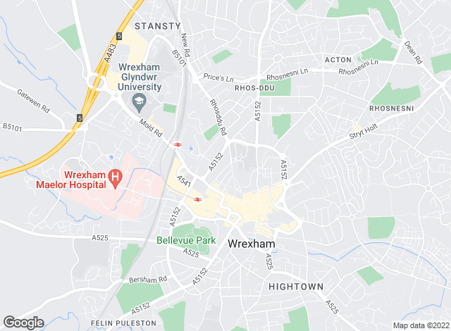 Map for Whitegates, Wrexham - Lettings
