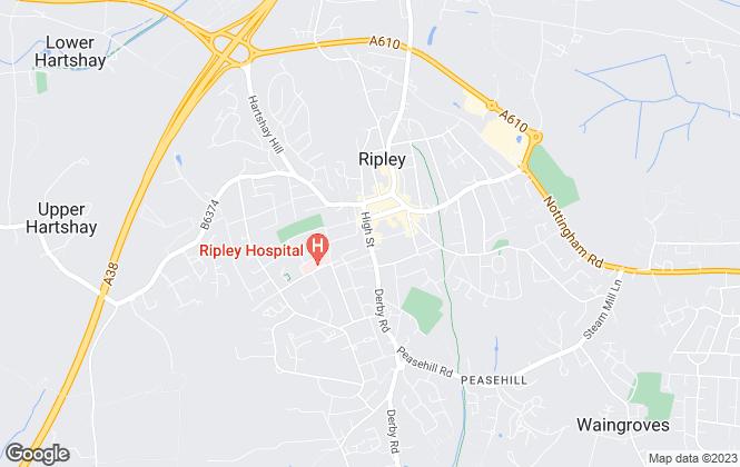 Map for Smartmove Homes, Ripley