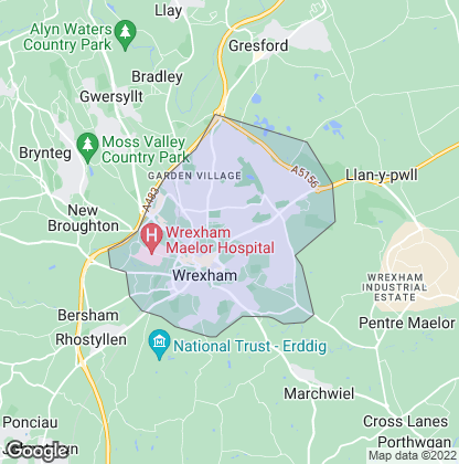 Map of property in Wrexham