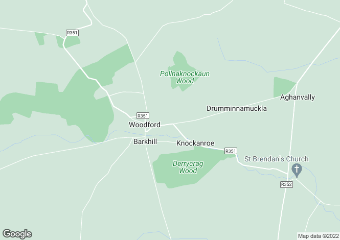 Map for Woodford, Galway