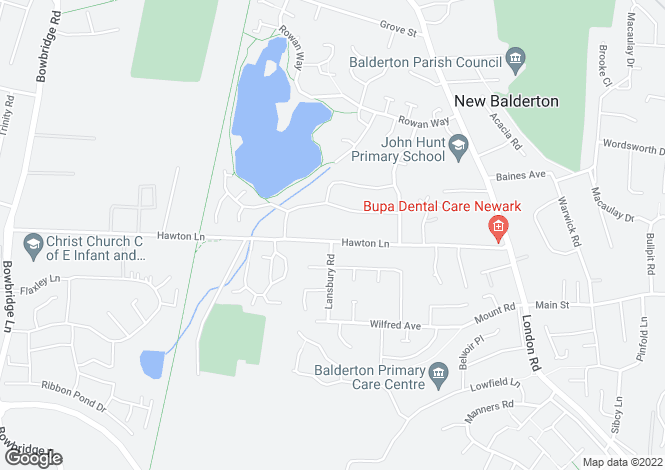 Map for 58 Hawton Lane, Balderton NG24 3DN