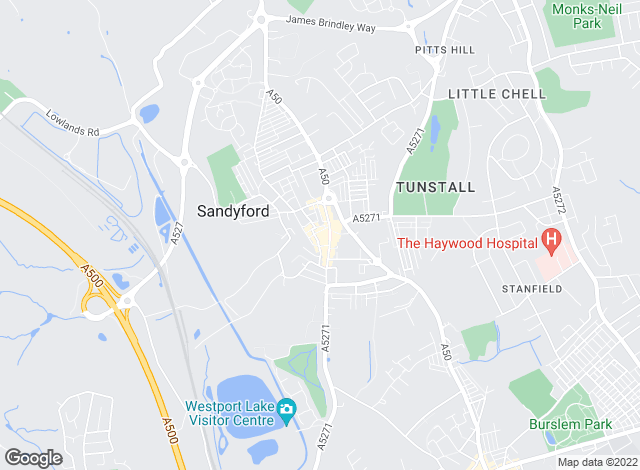 Map for Austerberry, Tunstall