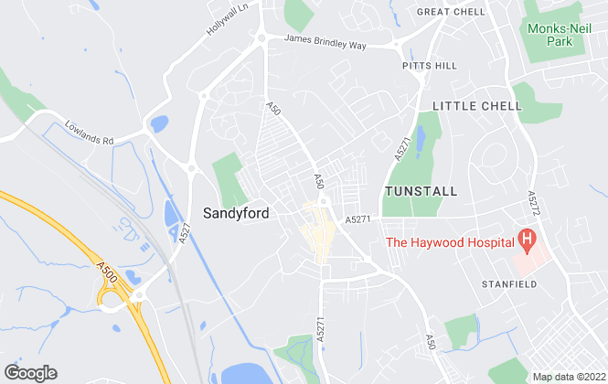Map for YOUR MOVE Lettings, Tunstall