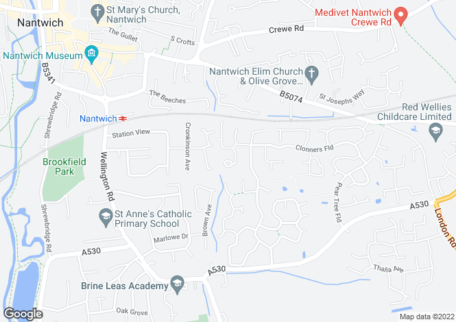 Map for Sherratt Close, Stapeley, Nantwich, CW5 7RU