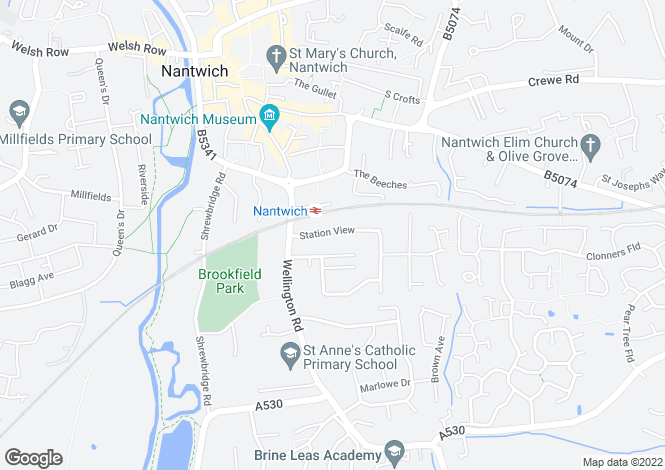 Map for Station View, Nantwich, CW5 7BJ