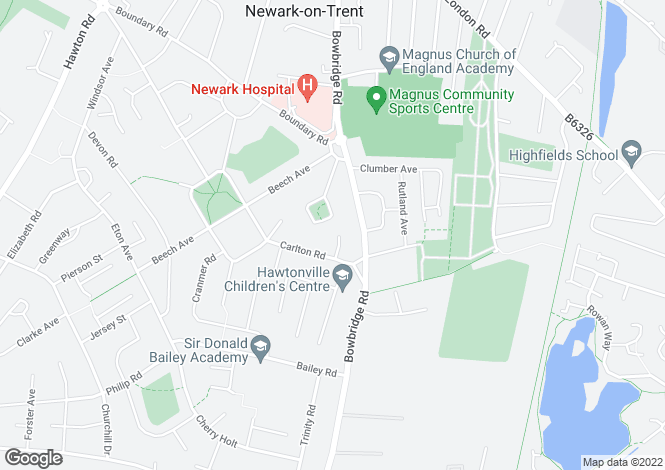 Map for Clayton Close, Newark, Newark, Nottinghamshire, NG24